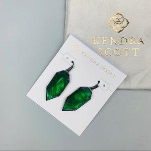 Kendra Scott Palmer Drop Earrings Emerald Green